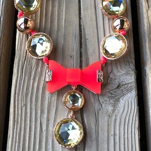 Marx by Marc Jacobs Crystal Neon Bow Necklace NWT!